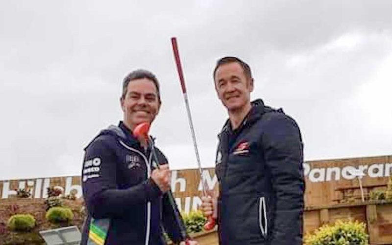 Greg Murphy & Craig Lowndes At Hillsborough Mt Panorama Mini Golf