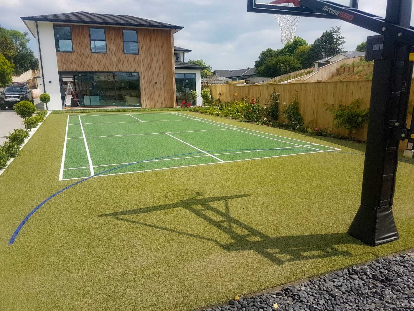 Patu Badminton Court synthetic turf