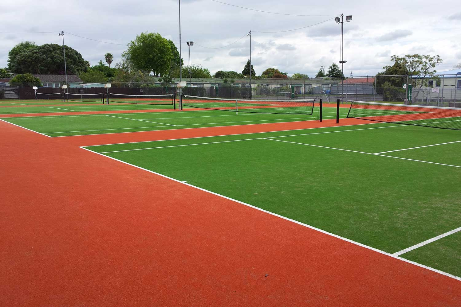Te Atatu Tennis Club synthetic turf