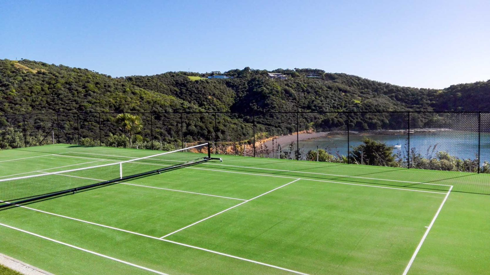 Waiheke Island Private Tennis Court synthetic turf