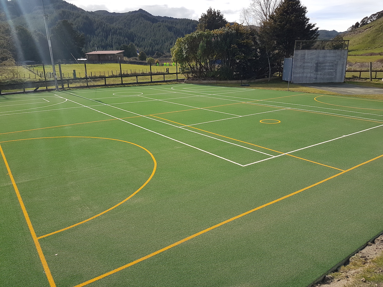 School tennis court