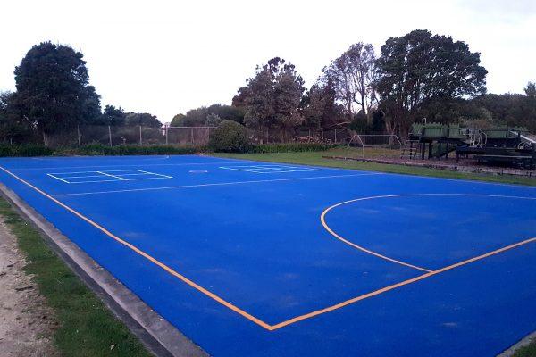 Blue School Netball Court